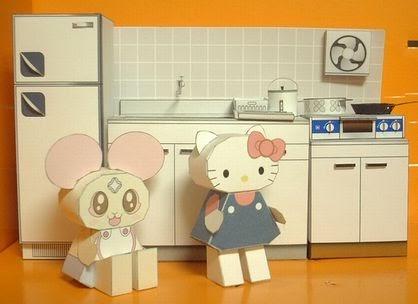 Casita de papel cocina for Muebles de cocina alve