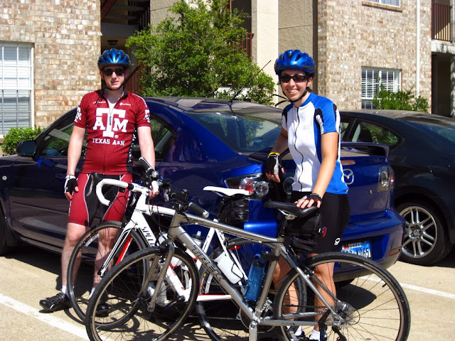 Chris and I after our first 40 mile ride