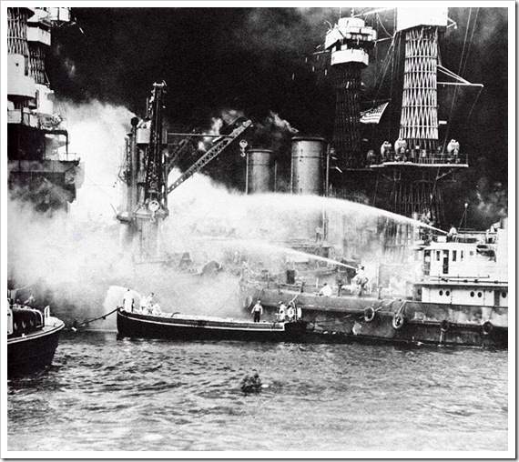 FireboatHosesBattleshipWestVirginiaPearlHarbor