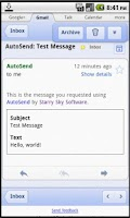 Screenshot of AutoSend