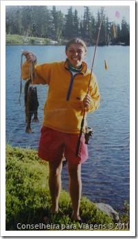 Eu e as trutas que pesquei