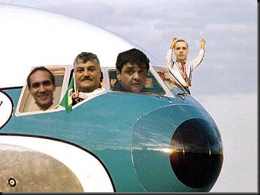 vereadores no avião