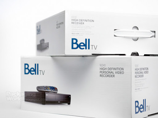 Bell TV Packaging Side View