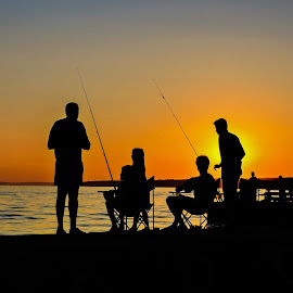 fishing in sunset by Adriana Kastelan - Novices Only Portraits & People