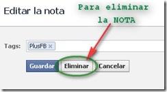 Eliminar Notas Facebook