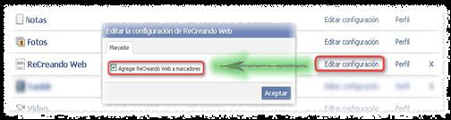 Marcador Facebook