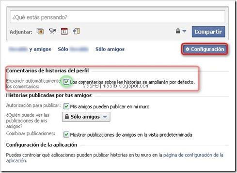 Configurar Muro Perfil Facebook