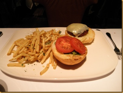 Veal Burger with Parmigiano Fries