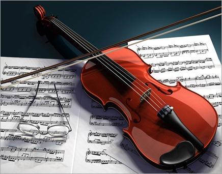 violinandnoteswallpaper