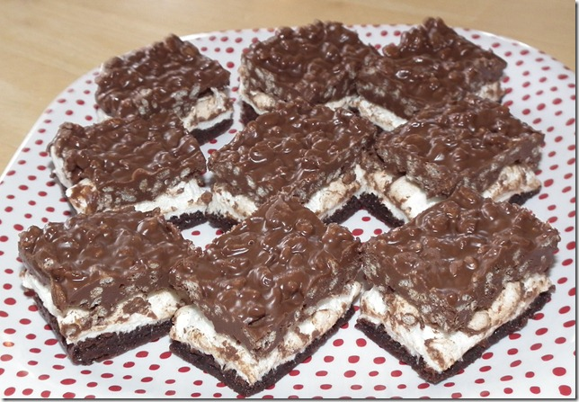 Peanut Butter Rice Krispies Marshmallow Topped Brownies 5-11-11