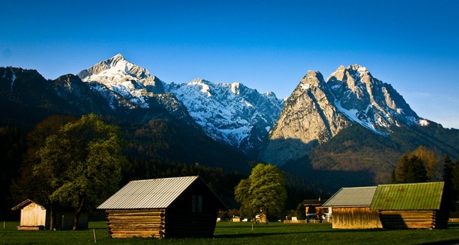 Garmisch Field at Sunrise-2