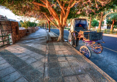 Carriage on the street in Aqaba