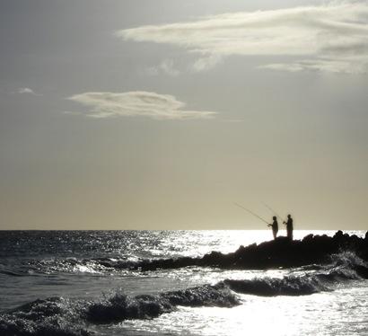 Barbados Fisherman sillouette
