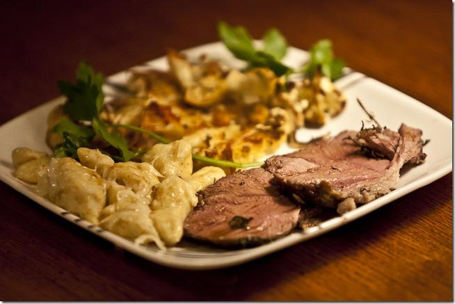 Plated Lamb