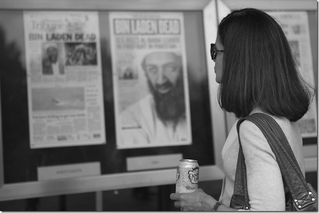 Osama Bin Ladin is Dead - People at the Newseum-6