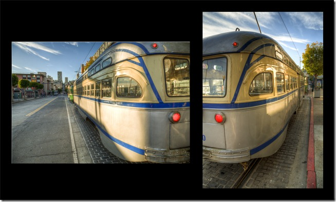 San Francisco Trolley Diptych Small