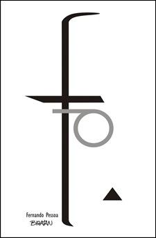 Fernando Pessoa - Caricatura de Letra