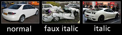 Faux Italic