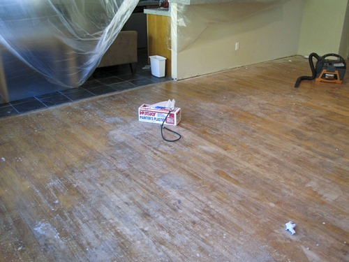 wood floors before