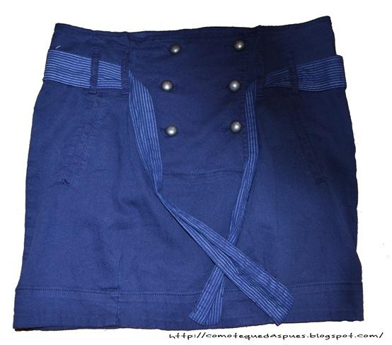 falda azul navy
