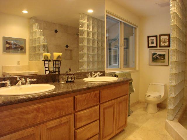 even bath has views