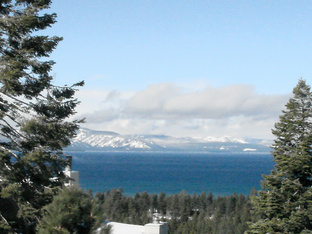 View from Lake Tahoe Cabin Deck