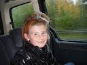 Juliane med Halloween hår, klik til flere billeder
