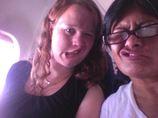 Right before @grace134 and I landed in Salt Lake City and kicked off the plane