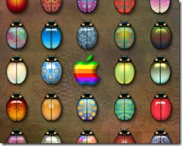 Ladybugs and Apple 1280x1024 advertising wallpaper