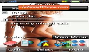 Tema chicas para celulares Sony Ericsson