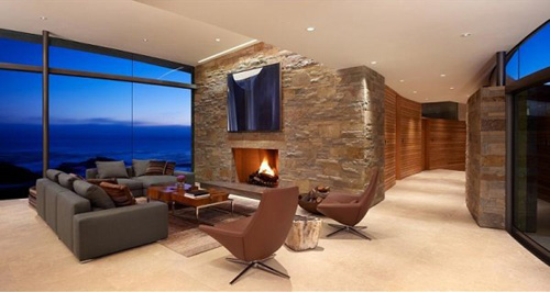 family room in spectacular house ocean
