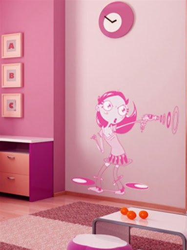 wallpaper girls and boys. wallpaper girls room sticker
