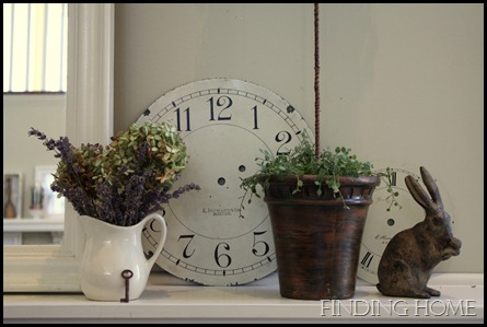 Our Spring Mantel…Sort of