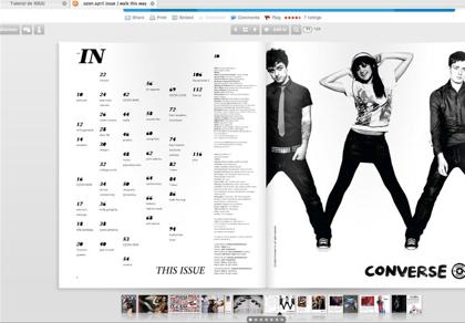 Imagen ISSUU: Publicaciones on Line