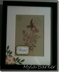 Scrapbook and frame prject 011