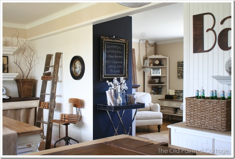 Dining Room (Cinder Block Wall) Makeover | The Old Painted Cottage ...