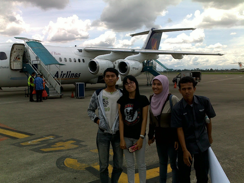 Riau Airlines Landed in Jakarta