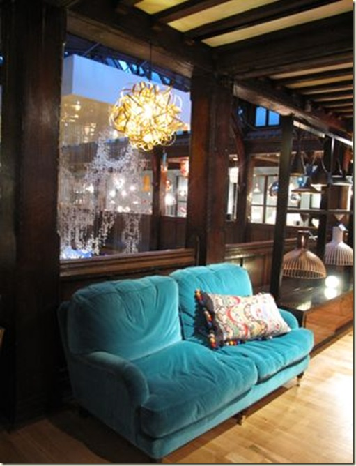 Lavender house turq sofa
