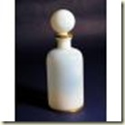 white opaline perfume bottle