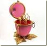 pink opaline sewing box