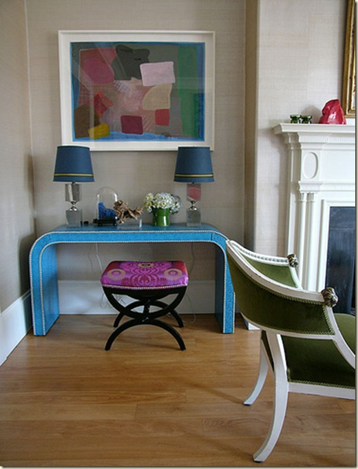 Frank Ropp turq console, www.melissagulley.com , www.designtrackmind.com , melissa gulley interior design Newton MA , melissa gulley interior design Wellesley MA , melissa gulley interior design Weston MA ,