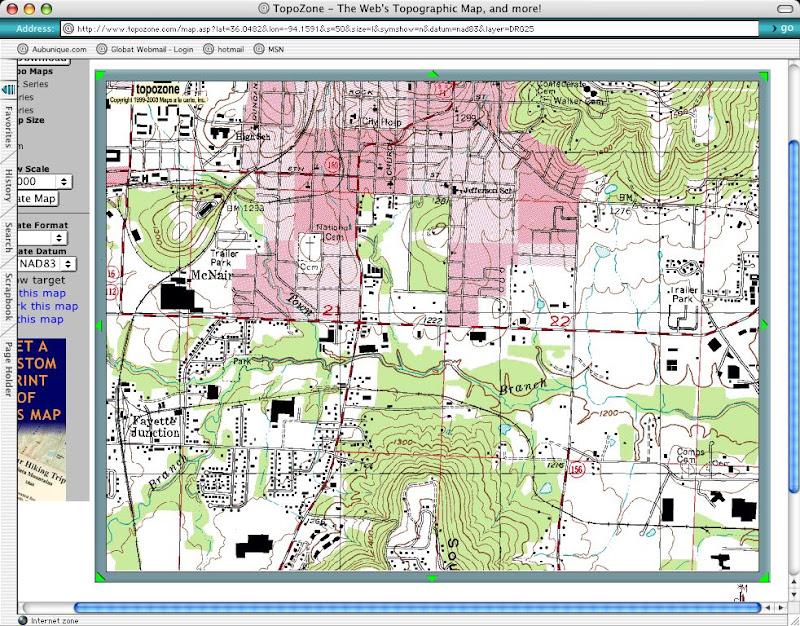 Aubunique Old Us Geological Survey Map Of South Fayetteville - Us-geologic-survey-maps