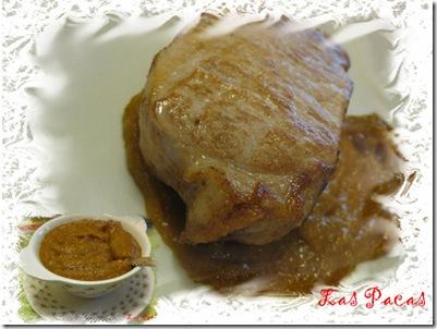 Lomo cerdo con chutney