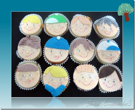 cupcakes caritas niños
