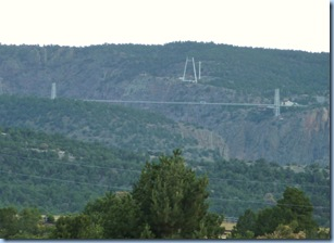 Royal Gorge Bridge view from campground