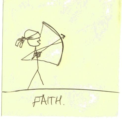 Faith post-it