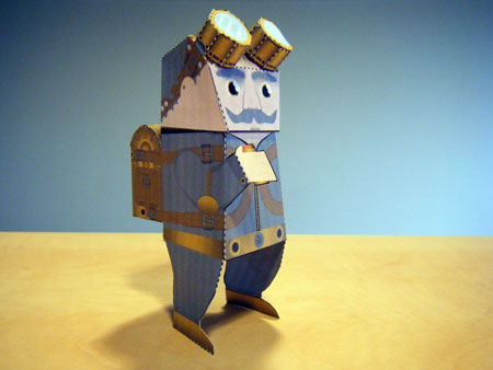 Mecánica de papel: Recortables Steam-rider-papertoy
