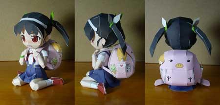 Bakemonogatari - Mayoi Hachikuji Papercraft