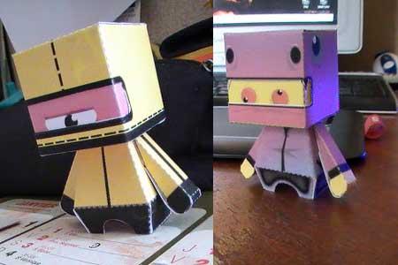 Cylcops Ninja & Schizo Dino Papercraft