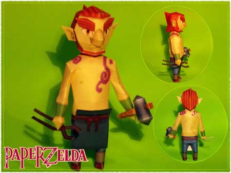 Blacksmith Zauz Papercraft
